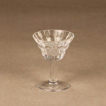 Riihimäen lasi Polar cherrylasi, jalallinen, suunnittelija Aimo Okkolin, jalallinen