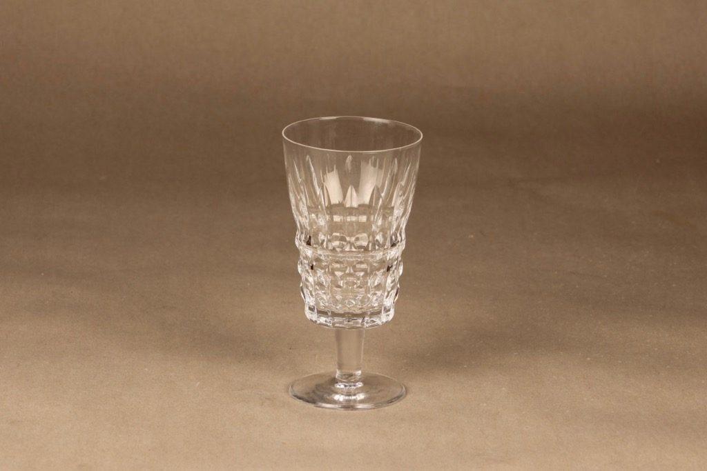 Riihimäen lasi Polar olutlasi, jalallinen, suunnittelija Aimo Okkolin, jalallinen