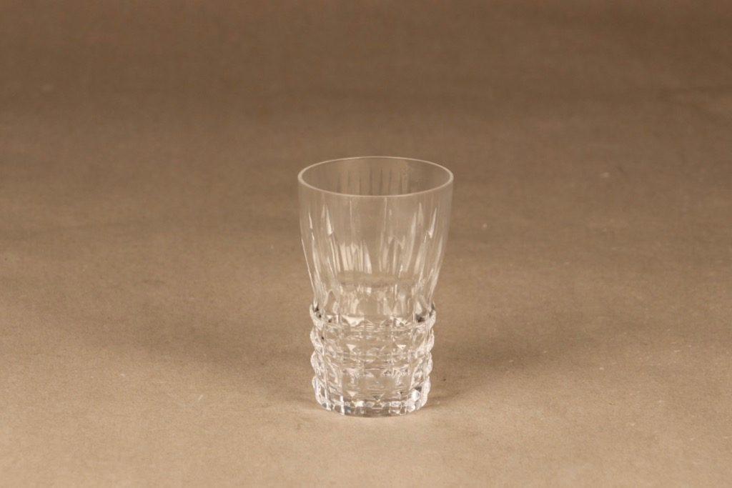 Riihimäen lasi Polar vesilasi, kirkas, suunnittelija Aimo Okkolin,