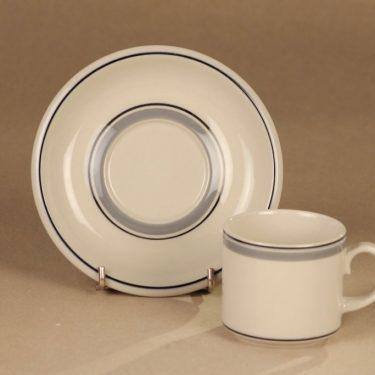 Arabia Usva kahviastiasto, kuudelle, 6 kpl, suunnittelija Anja Jaatinen-Winquist, kuudelle, raitakoriste kuva 4