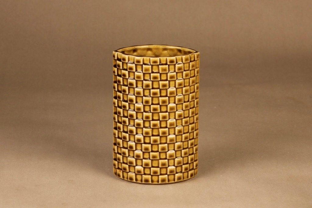 Arabia Harlekiini maljakko, ruskea, suunnittelija Kaarina Aho,