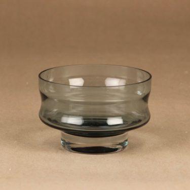 Riihimäen lasi Erkki dessert bowl, bluish gray designer Erkkitapio Siiroinen