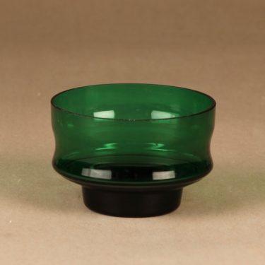 Riihimäen lasi Erkki dessert bowl, green designer Erkkitapio Siiroinen