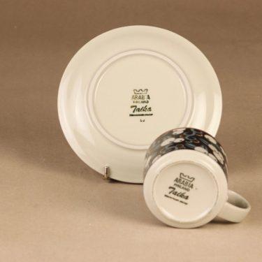 Arabia Taika kahvikuppi, suunnittelija Inkeri Seppälä, puhalluskoriste, retro kuva 3