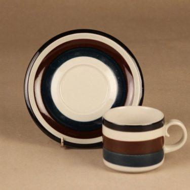 Arabia Kaira teekuppi, 20 cl, suunnittelija Anja Jaatinen-Winquist, 20 cl, käsinmaalattu, raitakoriste kuva 2