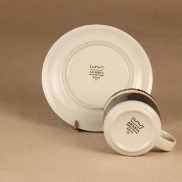 Arabia Kaira teekuppi, 20 cl, suunnittelija Anja Jaatinen-Winquist, 20 cl, käsinmaalattu, raitakoriste kuva 3