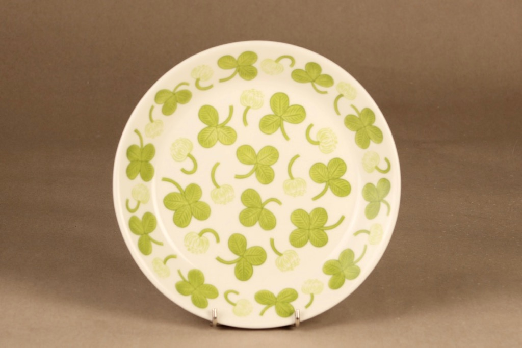 Arabia Apila lautanen, vihreä, suunnittelija Birger Kaipiainen,