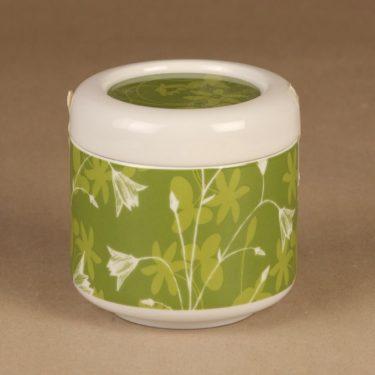 Arabia Keto jar, green designer Heini Riitahuhta