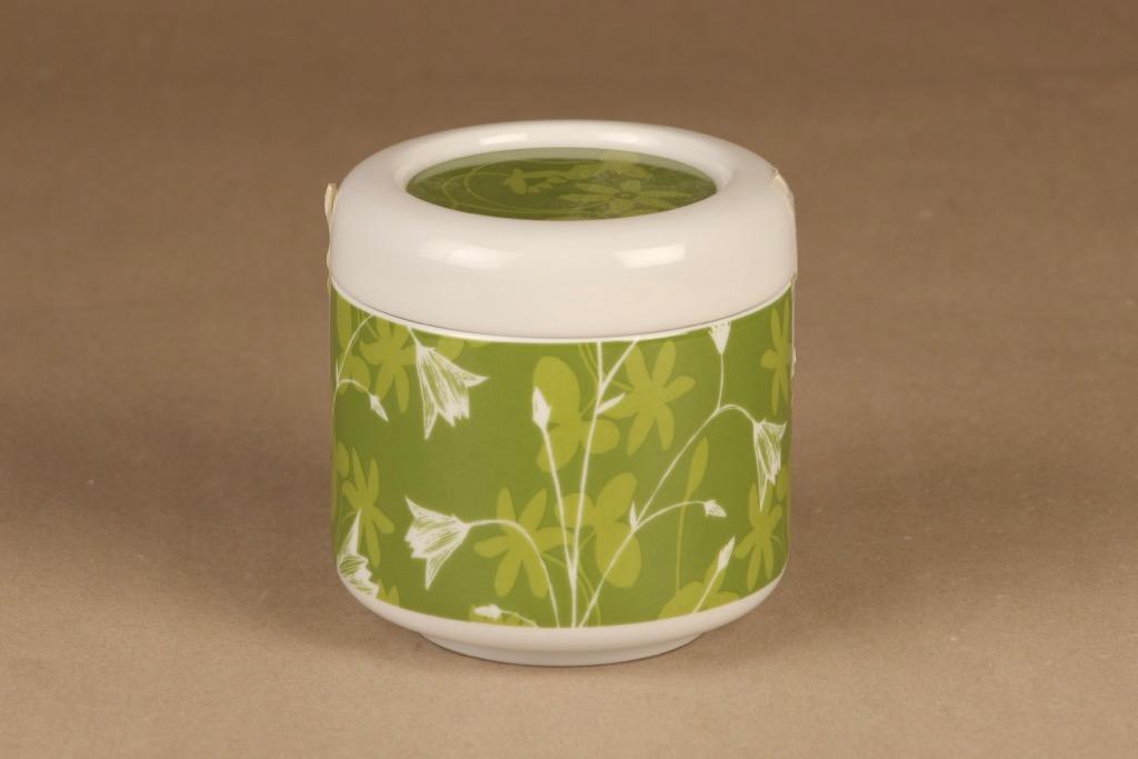 Arabia Keto purkki, vihreä, suunnittelija Heini Riitahuhta,