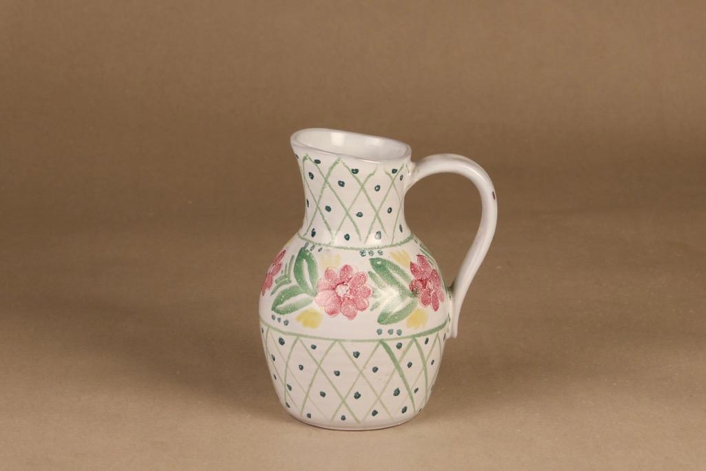 Arabia ARA pitcher, hand-painted designer Kaj Franck