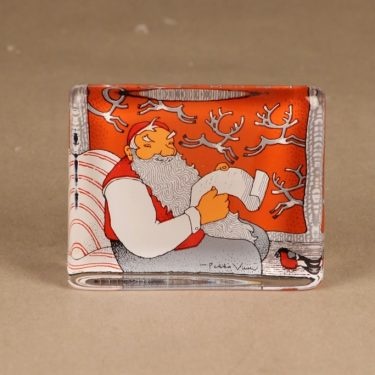 Iittala glass card Santa Claus designer Pekka Vuori