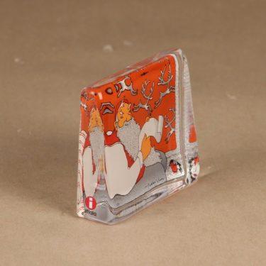 Iittala lasikortti, Joulupukki, suunnittelija Pekka Vuori, Joulupukki, Joulu-aihe kuva 2