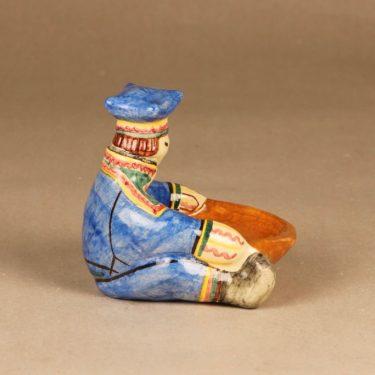 Kupittaan savi Lappalainen figuuri, käsinmaalattu, suunnittelija , käsinmaalattu kuva 2