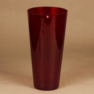 Iittala Kartio vase, ruby designer Kaj Franck