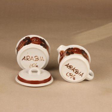 Arabia Rosmarin sokerikko ja kermakko, käsinmaalattu, suunnittelija Ulla Procope, käsinmaalattu kuva 2
