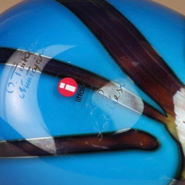 Nuutajärvi Taivaanvuohi, signeerattu, suunnittelija Oiva Toikka, signeerattu, lintu kuva 4