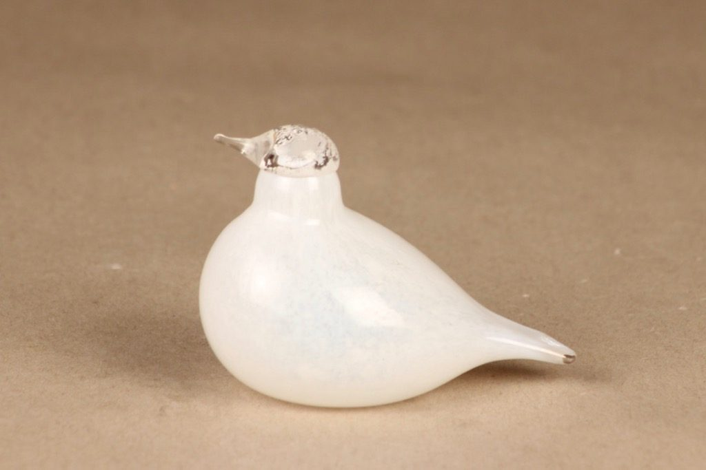 Nuutajärvi white Little Tern designer Oiva Toikka