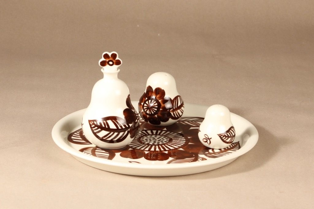 Arabia Köökki mausteikko, käsinmaalattu, suunnittelija Gunvor Olin-Grönqvist, käsinmaalattu, signeerattu