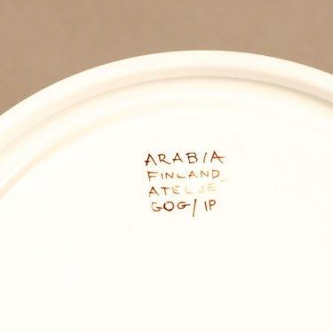 Arabia Köökki mausteikko, käsinmaalattu, suunnittelija Gunvor Olin-Grönqvist, käsinmaalattu, signeerattu kuva 5