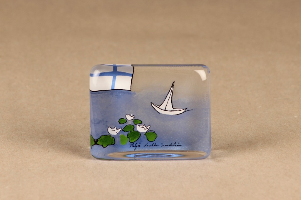 Iittala glass card The Finnish winter designer Heljä Liukko-Sundström
