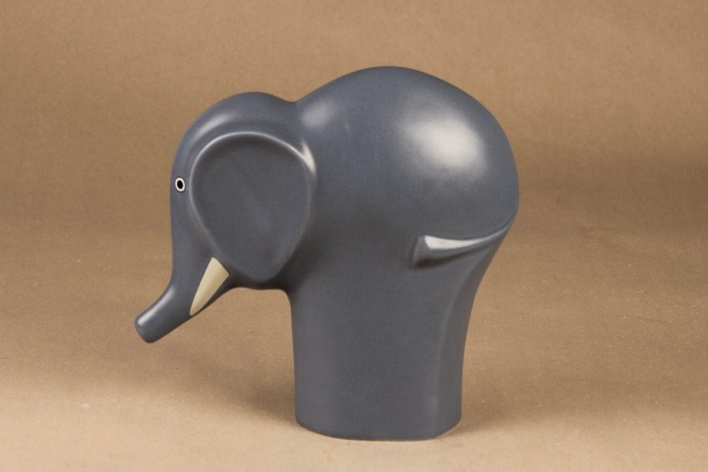 Arabia Runfree Norsu, Selma, suunnittelija Howard Smith, Selma, elefantti, Selma, värilasite
