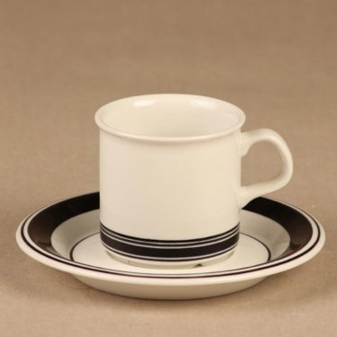 Arabia Faenza stripe espresso cup designer Inkeri Seppälä