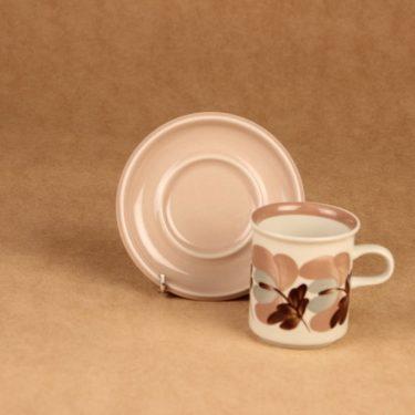 Arabia Koralli kahvikuppi, vaaleanpunainen, suunnittelija Raija Uosikkinen,  kuva 2