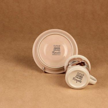 Arabia Koralli kahvikuppi, vaaleanpunainen, suunnittelija Raija Uosikkinen,  kuva 3