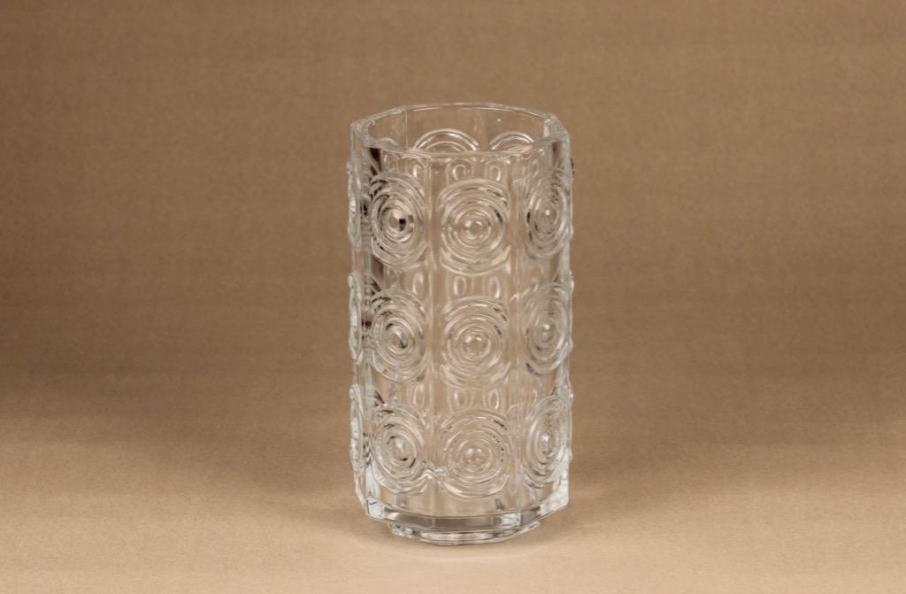 Riihimäen lasi Rengas maljakko, kirkas, suunnittelija Tamara Aladin,