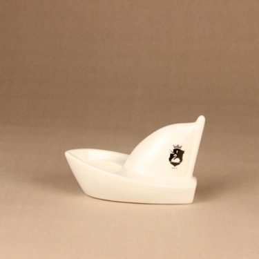 Arabia HLS candle holder boat, limited edition designer Heljä Liukko-Sundström