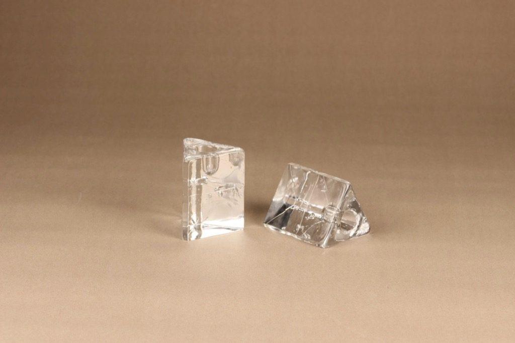 Iittala Arkipelago kynttilänjalka, 2 kpl, 2 kpl, suunnittelija Timo Sarpaneva, 2 kpl, massiivinen, kolmio