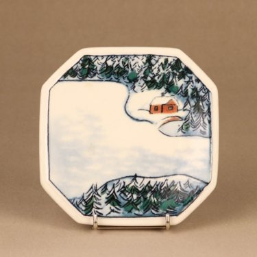 Arabia wall plate Winter, limited edition designer Heljä Liukko-Sundström