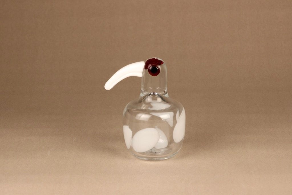 Iittala lintu , Snowball, suunnittelija Anu Penttinen, Snowball, signeerattu