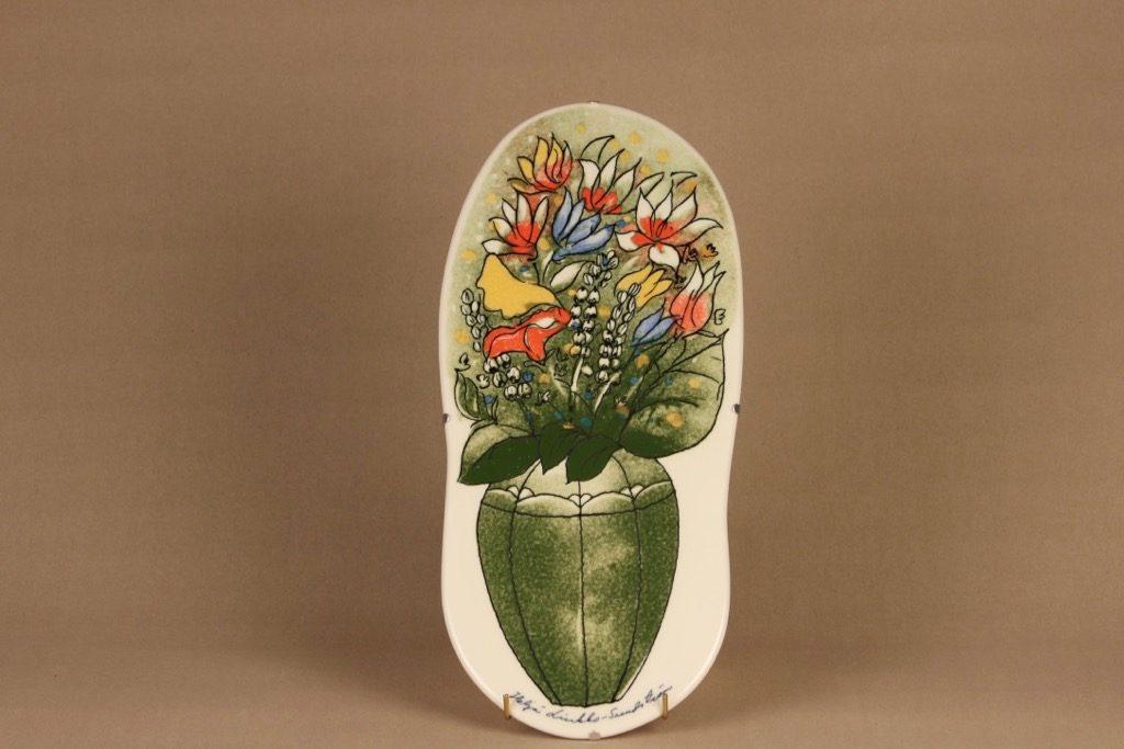 Arabia Elämän rikkaus seinätaulu, suunnittelija Heljä Liukko-Sundström, serikuva, kukka