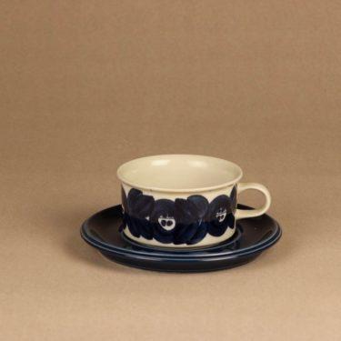 Arabia Anemone teekuppi ja lautaset, käsinmaalattu, suunnittelija Ulla Procope, käsinmaalattu, käsinmaalattu kuva 2