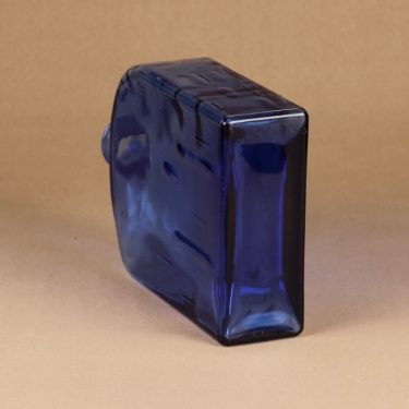 Riihimäen lasi Lankkupullo koristepullo, sininen, suunnittelija Helena Tynell, suuri kuva 2