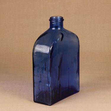 Riihimäen lasi Lankkupullo koristepullo, sininen, suunnittelija Helena Tynell, suuri kuva 3
