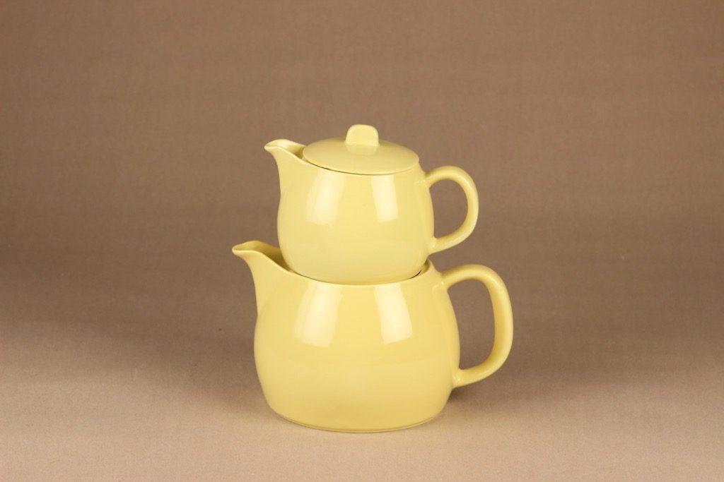 Arabia teekaadin, keltainen, suunnittelija Kaj Franck, kaksiosainen