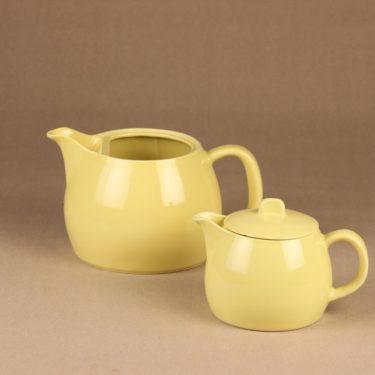 Arabia teekaadin, keltainen, suunnittelija Kaj Franck, kaksiosainen kuva 2