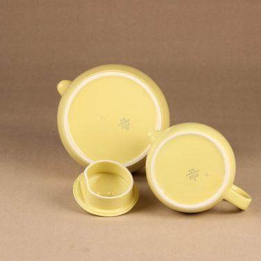Arabia teekaadin, keltainen, suunnittelija Kaj Franck, kaksiosainen kuva 3