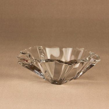 Nuutajärvi Jäänsärö art glass bowl, crystal designer Tapio Wirkkala