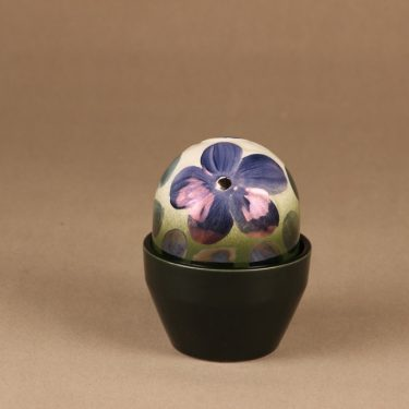 Arabia evergren flower Violet Anemone, hand-painted designer Heljä Liukko-Sundström