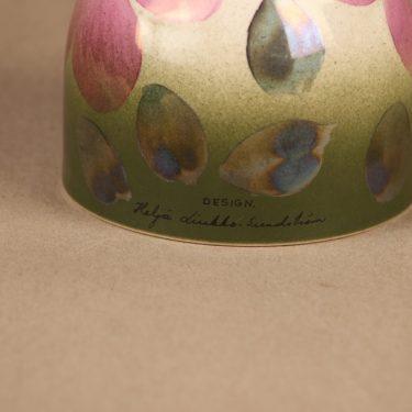 Arabia evergreen flower pink Anemone, hand-painted designer Heljä Liukko-Sundström 3