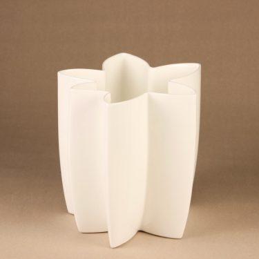 Arabia Carambola vase, white designer Heikki Orvola 2