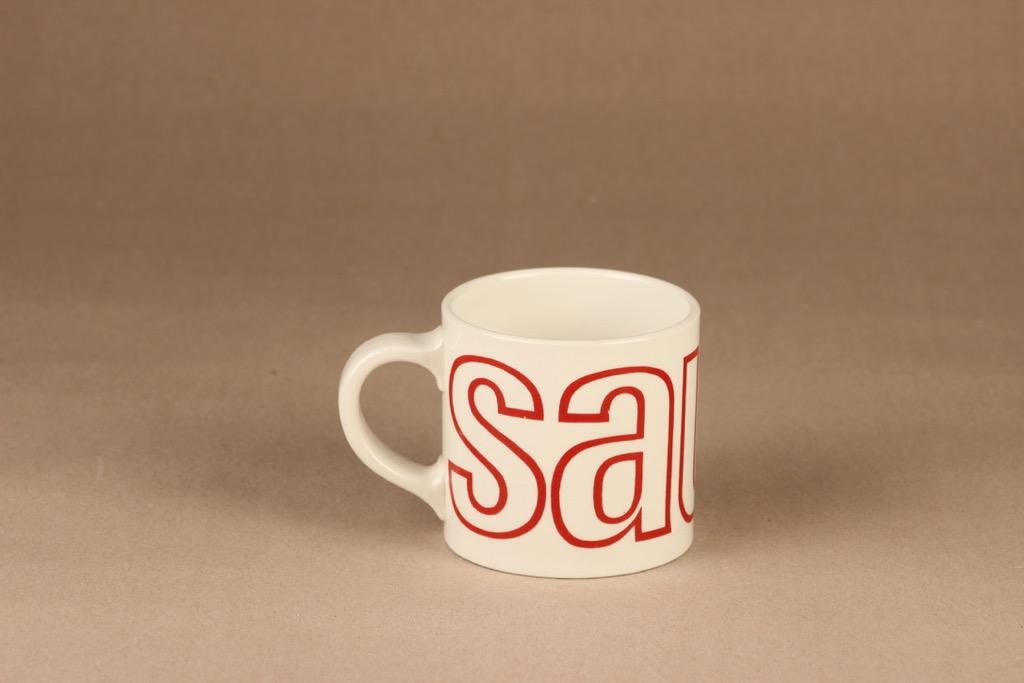 Arabia Sauna mug, red 4.5 dl designer Gunvor Olin-Grönqvist