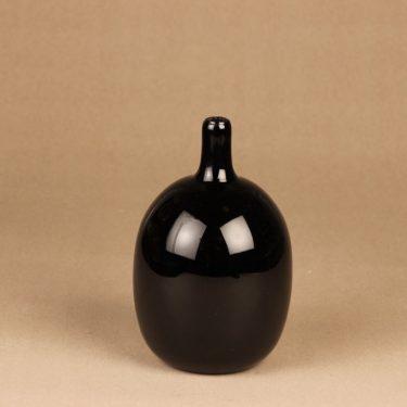 Nuutajärvi Mansikkapaikka art glass bottle, signed designer Oiva Toikka