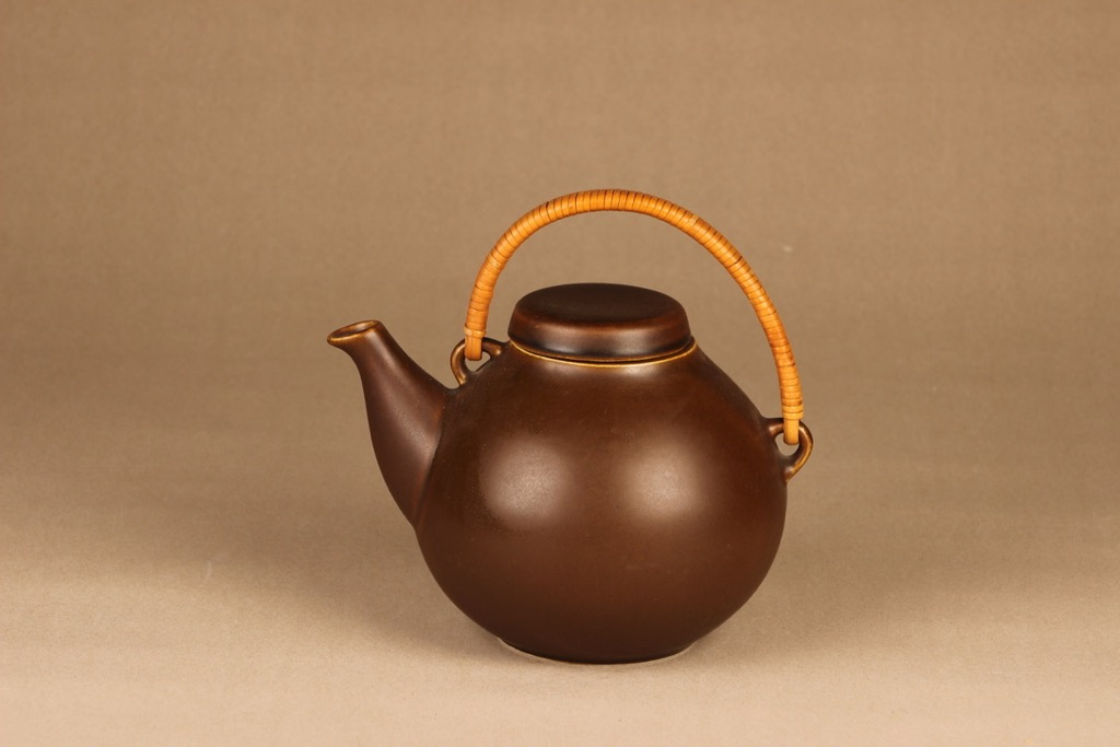 Arabia GA3 tea pitcher brown, 1.6 l designer Ulla Procope