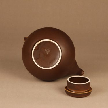 Arabia GA3 teekaadin, rottinkikahvalla, suunnittelija Ulla Procope, rottinkikahvalla, teekannu kuva 2