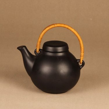 Arabia GA1 tea pitcher 0.7 l, black designer Ulla Procope