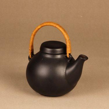 Arabia GA1 teekaadin, rottinkikahvalla, suunnittelija Ulla Procope, rottinkikahvalla, teekannu kuva 2